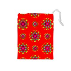 Geometric Circles Seamless Pattern Drawstring Pouches (medium)  by Nexatart