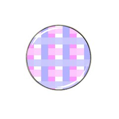 Gingham Checkered Texture Pattern Hat Clip Ball Marker by Nexatart
