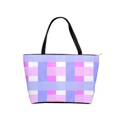 Gingham Checkered Texture Pattern Shoulder Handbags