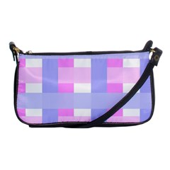 Gingham Checkered Texture Pattern Shoulder Clutch Bags