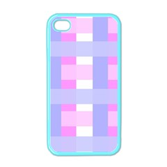 Gingham Checkered Texture Pattern Apple Iphone 4 Case (color) by Nexatart