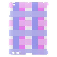Gingham Checkered Texture Pattern Apple Ipad 3/4 Hardshell Case (compatible With Smart Cover)
