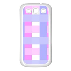 Gingham Checkered Texture Pattern Samsung Galaxy S3 Back Case (white)