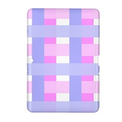 Gingham Checkered Texture Pattern Samsung Galaxy Tab 2 (10 1 ) P5100 Hardshell Case