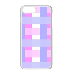 Gingham Checkered Texture Pattern Apple Iphone 7 Plus White Seamless Case