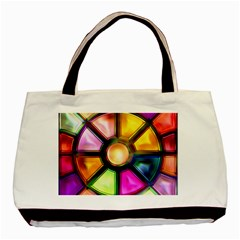 Glass Colorful Stained Glass Basic Tote Bag (two Sides)