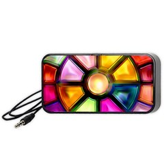 Glass Colorful Stained Glass Portable Speaker (black)