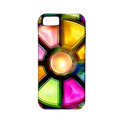 Glass Colorful Stained Glass Apple Iphone 5 Classic Hardshell Case (pc+silicone)