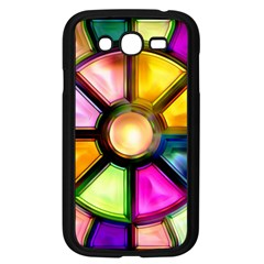Glass Colorful Stained Glass Samsung Galaxy Grand Duos I9082 Case (black) by Nexatart