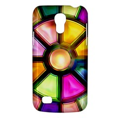 Glass Colorful Stained Glass Galaxy S4 Mini by Nexatart
