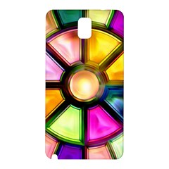 Glass Colorful Stained Glass Samsung Galaxy Note 3 N9005 Hardshell Back Case