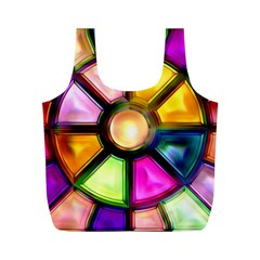 Glass Colorful Stained Glass Full Print Recycle Bags (m)  by Nexatart