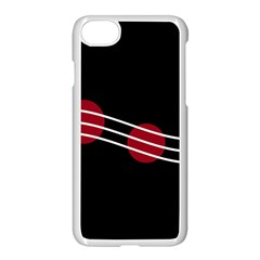 Elegant Abstraction Apple Iphone 7 Seamless Case (white) by Valentinaart