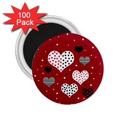 Harts 2 25  Magnets (100 Pack)  by Valentinaart
