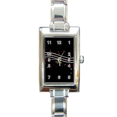 Elegant Abstraction Rectangle Italian Charm Watch by Valentinaart