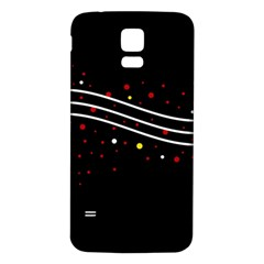 Elegant Abstraction Samsung Galaxy S5 Back Case (white) by Valentinaart