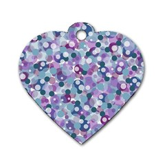 Decorative Bubbles Dog Tag Heart (two Sides) by Valentinaart