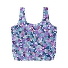 Decorative Bubbles Full Print Recycle Bags (m)  by Valentinaart