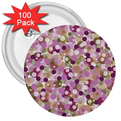 Colorful Bubbles 3  Buttons (100 Pack)  by Valentinaart