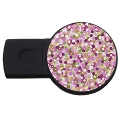 Colorful Bubbles Usb Flash Drive Round (4 Gb) by Valentinaart