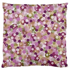 Colorful Bubbles Large Flano Cushion Case (two Sides) by Valentinaart