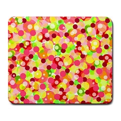 Playful Bubbles Large Mousepads by Valentinaart