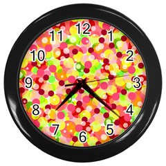 Playful Bubbles Wall Clocks (black) by Valentinaart