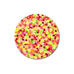 Playful Bubbles Magnet 3  (round) by Valentinaart
