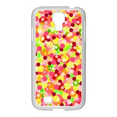 Playful Bubbles Samsung Galaxy S4 I9500/ I9505 Case (white) by Valentinaart