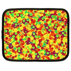 Bubbles Pattern Netbook Case (xl)  by Valentinaart