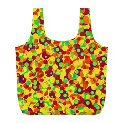 Bubbles Pattern Full Print Recycle Bags (l)  by Valentinaart