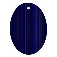 Deep Blue Lines Ornament (oval) by Valentinaart
