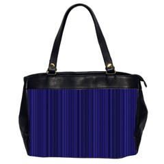 Deep Blue Lines Office Handbags (2 Sides)  by Valentinaart