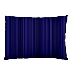 Deep Blue Lines Pillow Case (two Sides) by Valentinaart