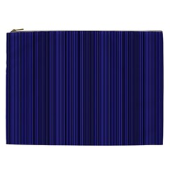 Deep Blue Lines Cosmetic Bag (xxl)  by Valentinaart