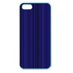 Deep Blue Lines Apple Seamless Iphone 5 Case (color) by Valentinaart