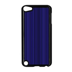 Deep Blue Lines Apple Ipod Touch 5 Case (black) by Valentinaart