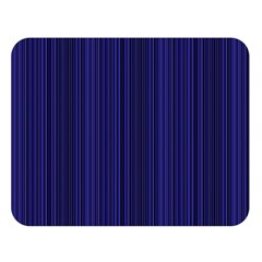 Deep Blue Lines Double Sided Flano Blanket (large)  by Valentinaart