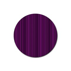 Deep Purple Lines Rubber Round Coaster (4 Pack)  by Valentinaart