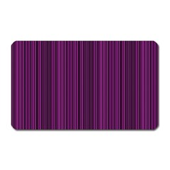 Deep Purple Lines Magnet (rectangular) by Valentinaart