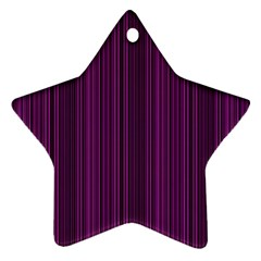 Deep Purple Lines Star Ornament (two Sides) by Valentinaart