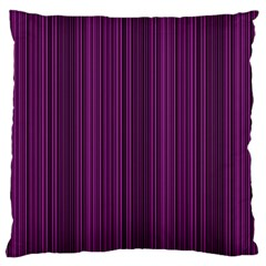 Deep Purple Lines Large Cushion Case (two Sides) by Valentinaart
