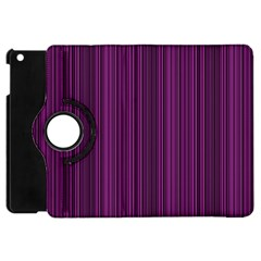 Deep Purple Lines Apple Ipad Mini Flip 360 Case by Valentinaart