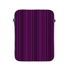 Deep Purple Lines Apple Ipad 2/3/4 Protective Soft Cases by Valentinaart