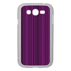 Deep Purple Lines Samsung Galaxy Grand Duos I9082 Case (white) by Valentinaart