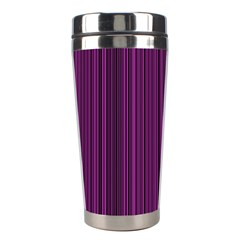 Deep Purple Lines Stainless Steel Travel Tumblers by Valentinaart