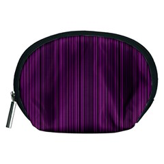 Deep Purple Lines Accessory Pouches (medium)  by Valentinaart