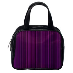 Deep Purple Lines Classic Handbags (one Side) by Valentinaart