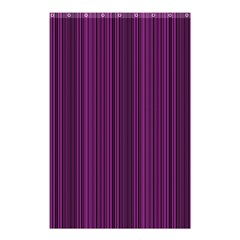 Deep Purple Lines Shower Curtain 48  X 72  (small)