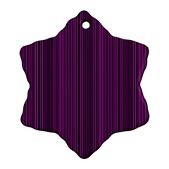 Deep Purple Lines Snowflake Ornament (two Sides) by Valentinaart